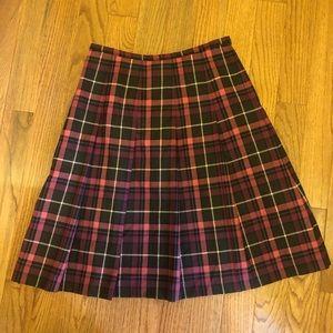 Vintage Pendleton Purple & Pink Plaid Skirt